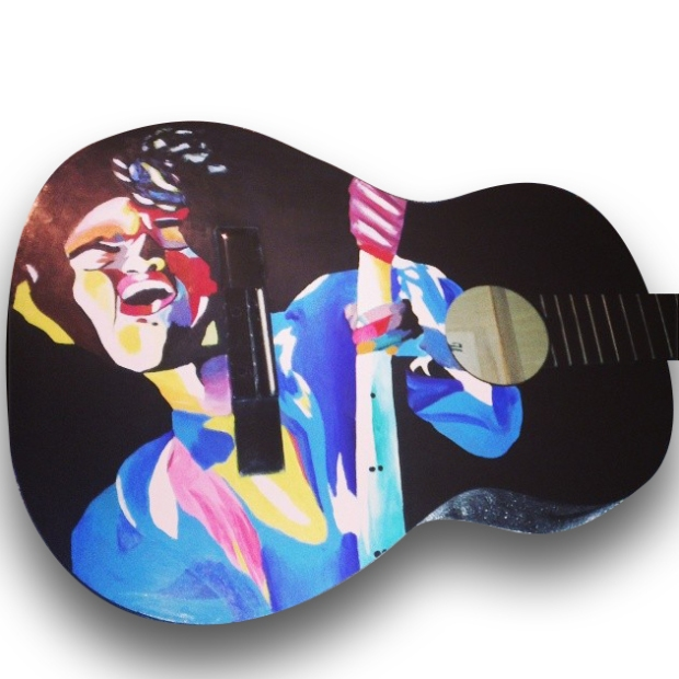 Painted Guitar-jimi-hendrix